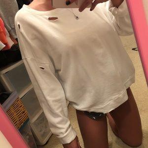 Forever 21 Distressed Sweatshirt